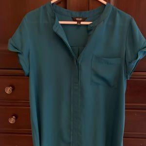 Vara wang teal blouse